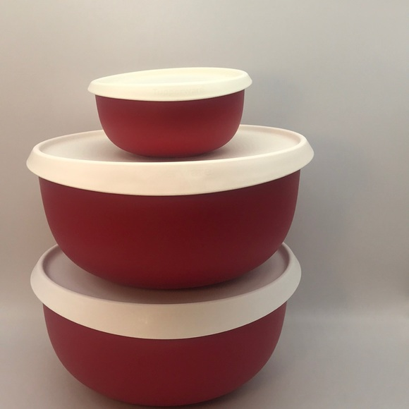 Tupperware Blossom Bowl Set of 3